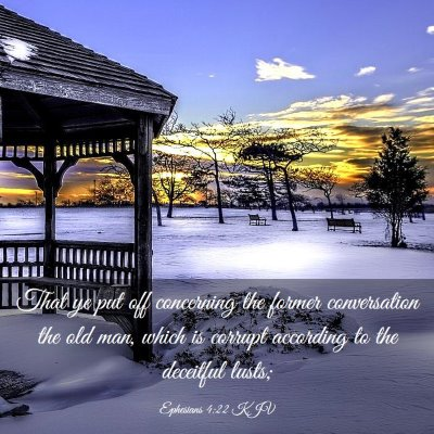 Picture 03 - Ephesians 4:22 KJV - That ye put off concerning the former - Bible Verse Picture