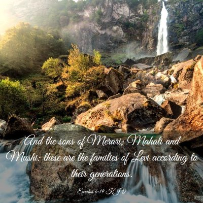 Picture 03 - Exodus 6:19 KJV - And the sons of Merari; Mahali and Mushi: these - Bible Verse Picture