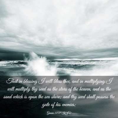 Picture 03 - Genesis 22:17 KJV - That in blessing I will bless thee, and in - Bible Verse Picture