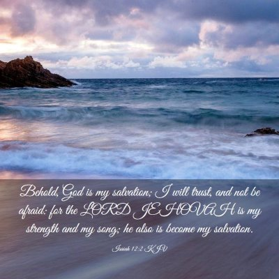 Picture 03 - Isaiah 12:2 KJV - Behold, God is my salvation; I will trust, and - Bible Verse Picture