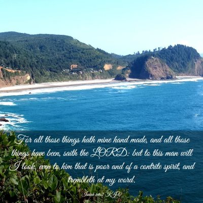 Picture 03 - Isaiah 66:2 KJV - For all those things hath mine hand made, and all - Bible Verse Picture