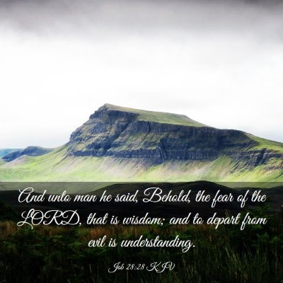 Picture 03 - Job 28:28 KJV - And unto man he said, Behold, the fear of the - Bible Verse Picture