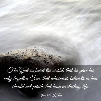Picture 03 - John 3:16 KJV - For God so loved the world, that he gave his only - Bible Verse Picture