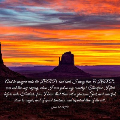 Picture 03 - Jonah 4:2 KJV - And he prayed unto the LORD, and said, I pray - Bible Verse Picture