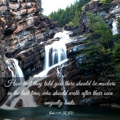 Picture 03 - Jude 1:18 KJV - How that they told you there should be mockers in - Bible Verse Picture
