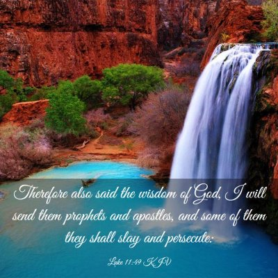 Picture 03 - Luke 11:49 KJV - Therefore also said the wisdom of God, I will - Bible Verse Picture