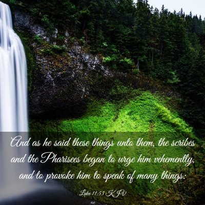 Picture 03 - Luke 11:53 KJV - And as he said these things unto them, the - Bible Verse Picture