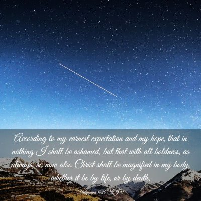 Picture 03 - Philippians 1:20 KJV - According to my earnest expectation and my hope, - Bible Verse Picture