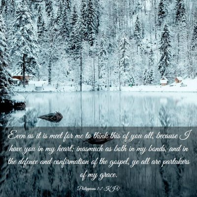 Picture 03 - Philippians 1:7 KJV - Even as it is meet for me to think this of you - Bible Verse Picture