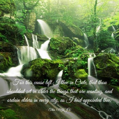 Picture 03 - Titus 1:5 KJV - For this cause left I thee in Crete, that thou - Bible Verse Picture
