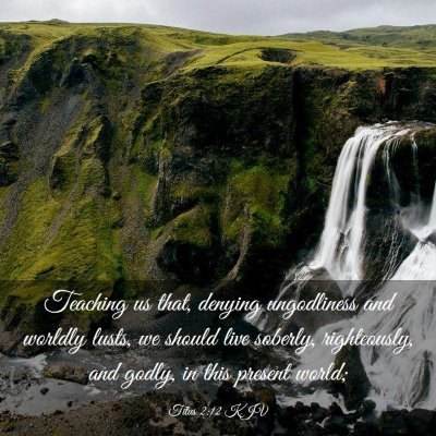 Picture 03 - Titus 2:12 KJV - Teaching us that, denying ungodliness and worldly - Bible Verse Picture