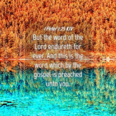 Picture 04 - 1 Peter 1:25 KJV - But the word of the Lord endureth for ever. And - Bible Verse Picture