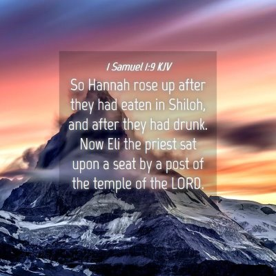 Picture 04 - 1 Samuel 1:9 KJV - So Hannah rose up after they had eaten in Shiloh, - Bible Verse Picture