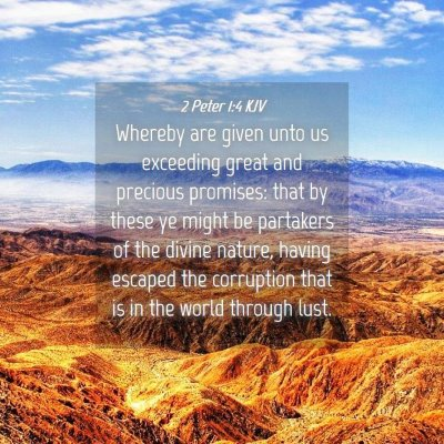 Picture 04 - 2 Peter 1:4 KJV - Whereby are given unto us exceeding great and - Bible Verse Picture