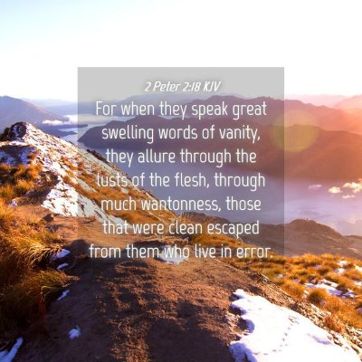 Picture 04 - 2 Peter 2:18 KJV - For when they speak great swelling words of - Bible Verse Picture