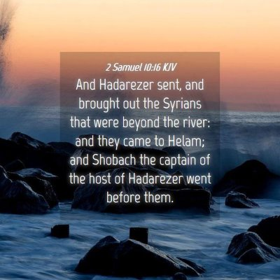 Picture 04 - 2 Samuel 10:16 KJV - And Hadarezer sent, and brought out the Syrians - Bible Verse Picture