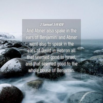 Picture 04 - 2 Samuel 3:19 KJV - And Abner also spake in the ears of Benjamin: and - Bible Verse Picture