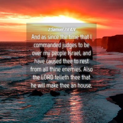 Picture 04 - 2 Samuel 7:11 KJV - And as since the time that I commanded judges to - Bible Verse Picture