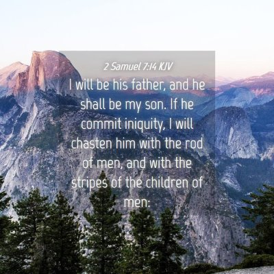 Picture 04 - 2 Samuel 7:14 KJV - I will be his father, and he shall be my son. If - Bible Verse Picture