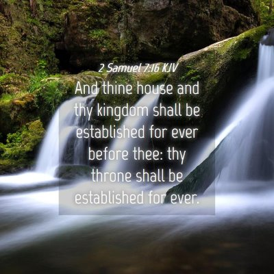 Picture 04 - 2 Samuel 7:16 KJV - And thine house and thy kingdom shall be - Bible Verse Picture