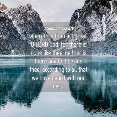 Picture 04 - 2 Samuel 7:22 KJV - Wherefore thou art great, O LORD God: for there - Bible Verse Picture