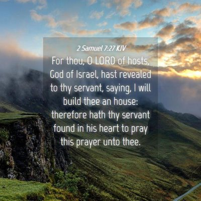 Picture 04 - 2 Samuel 7:27 KJV - For thou, O LORD of hosts, God of Israel, hast - Bible Verse Picture