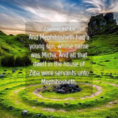 Picture 04 - 2 Samuel 9:12 KJV - And Mephibosheth had a young son, whose name was - Bible Verse Picture