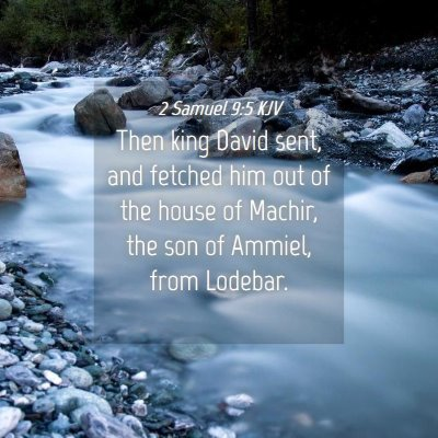 Picture 04 - 2 Samuel 9:5 KJV - Then king David sent, and fetched him out of the - Bible Verse Picture