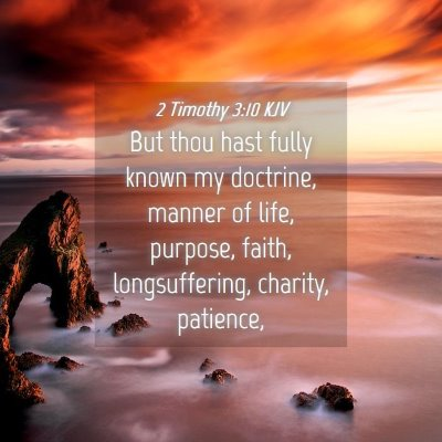 Picture 04 - 2 Timothy 3:10 KJV - But thou hast fully known my doctrine, manner of - Bible Verse Picture
