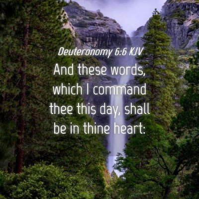 Picture 04 - Deuteronomy 6:6 KJV - And these words, which I command thee this day, - Bible Verse Picture