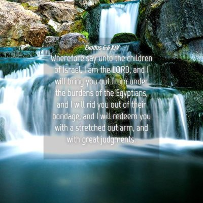 Picture 04 - Exodus 6:6 KJV - Wherefore say unto the children of Israel, I am - Bible Verse Picture