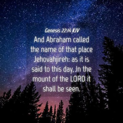 Picture 04 - Genesis 22:14 KJV - And Abraham called the name of that place - Bible Verse Picture