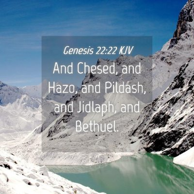 Picture 04 - Genesis 22:22 KJV - And Chesed, and Hazo, and Pildash, and Jidlaph, - Bible Verse Picture