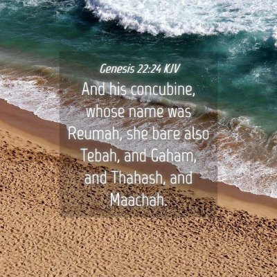 Picture 04 - Genesis 22:24 KJV - And his concubine, whose name was Reumah, she - Bible Verse Picture