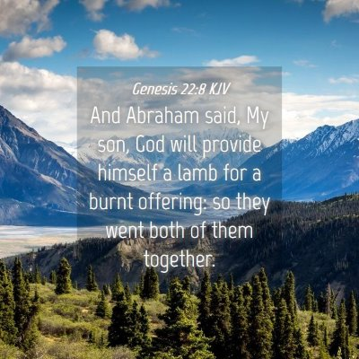 Picture 04 - Genesis 22:8 KJV - And Abraham said, My son, God will provide - Bible Verse Picture