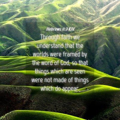 Picture 04 - Hebrews 11:3 KJV - Through faith we understand that the worlds were - Bible Verse Picture