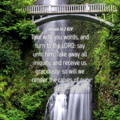 Picture 04 - Hosea 14:2 KJV - Take with you words, and turn to the LORD: say - Bible Verse Picture