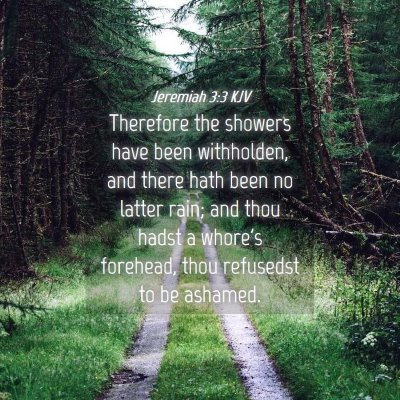 Picture 04 - Jeremiah 3:3 KJV - Therefore the showers have been withholden, and - Bible Verse Picture