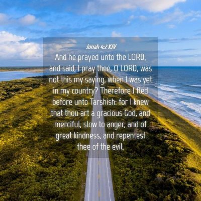 Picture 04 - Jonah 4:2 KJV - And he prayed unto the LORD, and said, I pray - Bible Verse Picture