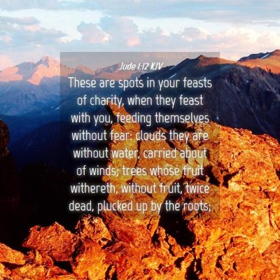 Picture 04 - Jude 1:12 KJV - These are spots in your feasts of charity, when - Bible Verse Picture