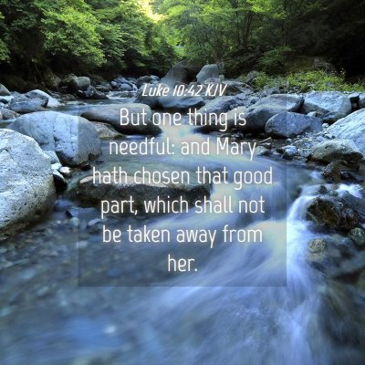 Picture 04 - Luke 10:42 KJV - But one thing is needful: and Mary hath chosen - Bible Verse Picture