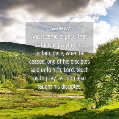 Picture 04 - Luke 11:1 KJV - And it came to pass, that, as he was praying in a - Bible Verse Picture