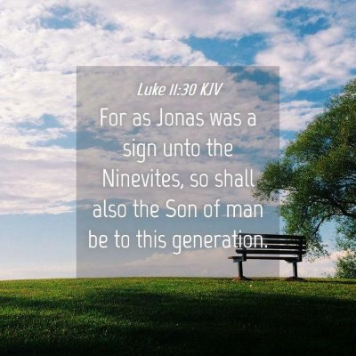 Picture 04 - Luke 11:30 KJV - For as Jonas was a sign unto the Ninevites, so - Bible Verse Picture