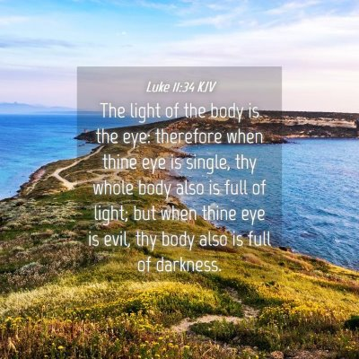 Picture 04 - Luke 11:34 KJV - The light of the body is the eye: therefore when - Bible Verse Picture