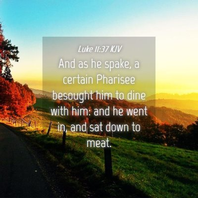 Picture 04 - Luke 11:37 KJV - And as he spake, a certain Pharisee besought him - Bible Verse Picture