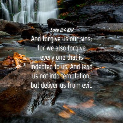 Picture 04 - Luke 11:4 KJV - And forgive us our sins; for we also forgive - Bible Verse Picture