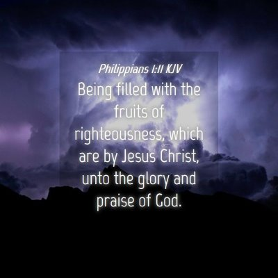 Picture 04 - Philippians 1:11 KJV - Being filled with the fruits of righteousness, - Bible Verse Picture