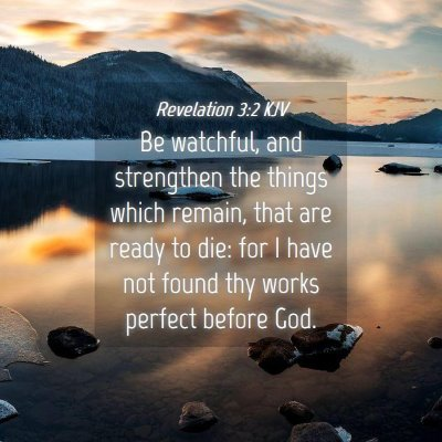 Picture 04 - Revelation 3:2 KJV - Be watchful, and strengthen the things which - Bible Verse Picture