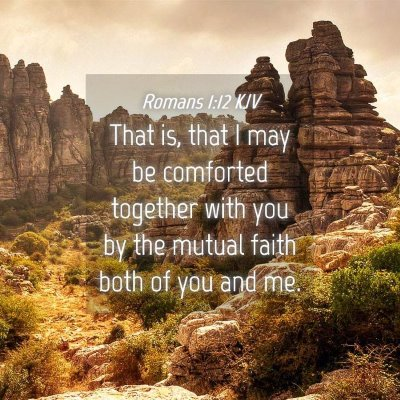 Picture 04 - Romans 1:12 KJV - That is, that I may be comforted together with - Bible Verse Picture