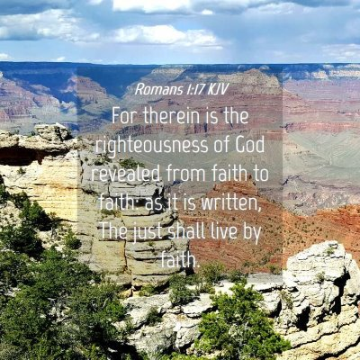 Picture 04 - Romans 1:17 KJV - For therein is the righteousness of God revealed - Bible Verse Picture